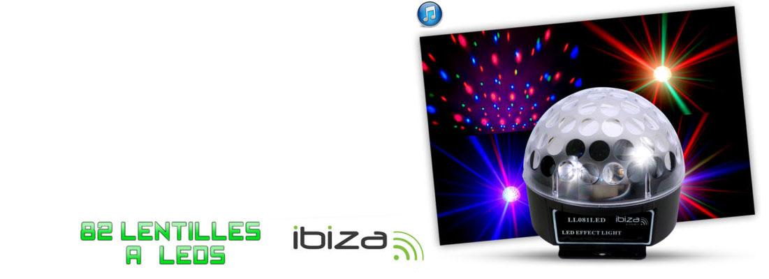 Jeu de lumière 82 faisceaux à 3 LEDs - mode automatique ou musical à seulement 24,90 euros